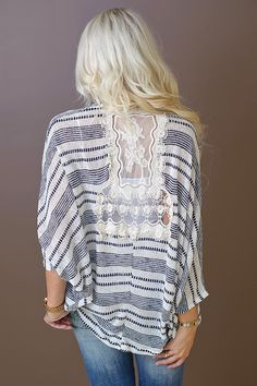 Piace Boutique - Out In The Open Lace Back Cardi, $37.99 (http://www.piaceboutique.com/out-in-the-open-lace-back-cardi/)