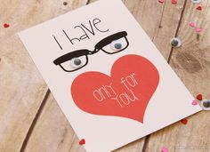 """Eyes"" Only For You Valentine Free Printable"