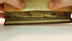 Secret Fore Edge Paintings: Believed to date back as early as the 1650s, this a way of hiding a painting on the edge of a book so that it can only be seen when the pages are fanned out. There are even books that have double fore-edge paintings, where a different image can be seen by flipping the book over and fanning the pages in the opposite direction. #Books #Fore_edge_Painting #IA