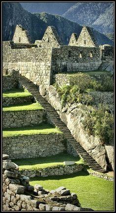 inca empire ruins peru...