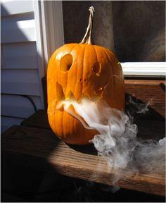"Smoldering Pumpkin by be amazing: ""An exploration of sublimation using a gourd of the Cucurbita genus."" #Halloween #Crafts #Pumpkin #Jack_o_Lantern"