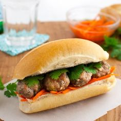Meatball Banh Mi Sandwich Recipe