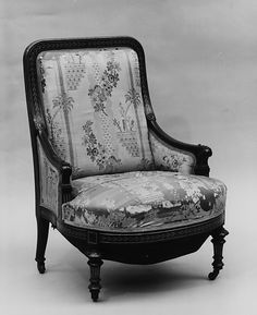 Armchair  Herter Brothers (1864–1906)  Date: 1865–70 Geography: Mid-Atlantic, New York City, New York, United States Culture: American Medium: Rosewood, marquetry, gilt