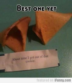 If i ever own a Chinese restaurant i would so put this in every cookie