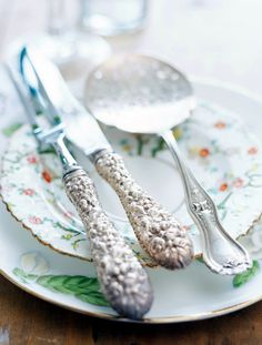 Lovely old silver flatware