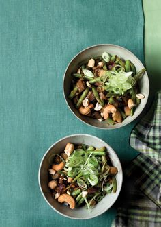 Eggplant Stir-Fry with Green Beans and Cashews | Vegetarian Times