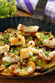 Baked Cod with Potatoes and Bacon