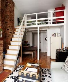 small apartments, kid spaces, loft bedrooms, dream dorm, loft spaces, apartment ideas, small spaces, home studios, small space living