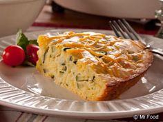 "We can't get enough of this side dish favorite for Zucchini Corn Bread Pie. Fluffy, cheesy, and full of that ""OOH IT'S SO GOOD!!"", pair this dish with your favorite bowl of chili or soup to warm you up this fall or winter."