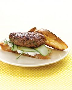 Lamb Burgers with Feta Sauce and Cucumbers Pair w/Gary Farrell Stiling Pinot Noir
