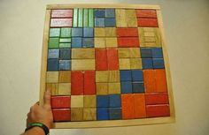 Toy building blocks turned into end table #Table, #Toy, #Wood