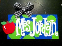 want to make one for sunday school class showing the ages that belong in my room sunday school, teacher gifts, polka dots, classroom decor, painted signs, diy gifts, handmade gifts, hand made, appl
