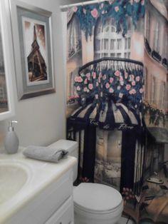 paris theme bathroom. Black Bedroom Furniture Sets. Home Design Ideas