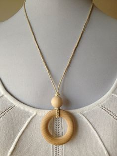 Natural Maple Wood Teething Necklace