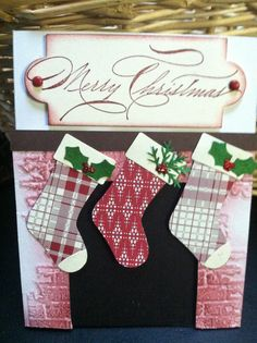 by Carol Wenker, Stampin' Up! stocking punch, Tim Holtz folder