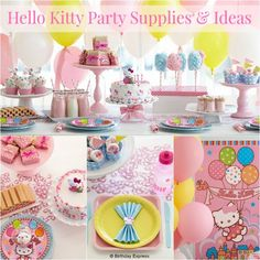 So pretty in pink!  I LOVE it!  ----Hello Kitty Party Inspiration http://celebrateeverydaywithme.com/2014/08/hello-kitty-party-inspiration.html