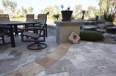 Travertine Outdoor patio