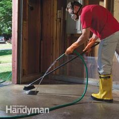 How to Remove Paint, Oil and Other Concrete Stains.