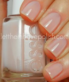 Essie Mademoiselle...not pink, not clear, just perfect! I love clean short nails!