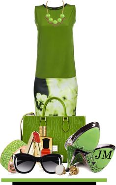 """""""Let's Do Green"""" by jenniemitchell ❤ liked on Polyvore"""