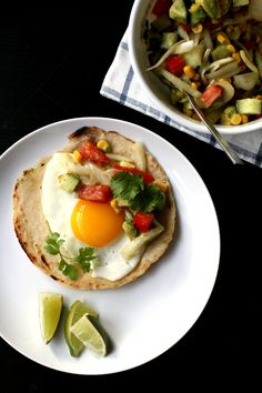 Pickled Onion Avocado Salsa + Eggs + Tortillas