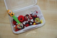 Another adorable sensory bin from Counting Coconuts! This one has a Mickey Mouse theme. Love it.