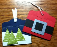 Christmas tags  Stampin' Up!