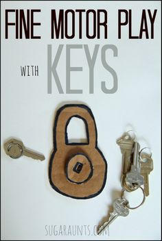 Simple fine motor play with an everyday household item: Keys!