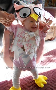 Sweet Homemade Halloween Baby Costume: Little Owl... This website is the Pinterest of costumes