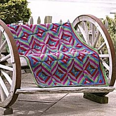 Jiffy Patchwork Quilt-Crochet