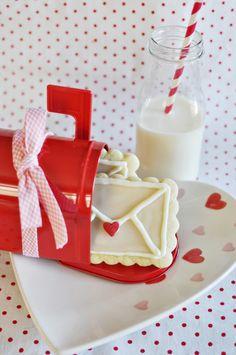 valentines milk and cookies