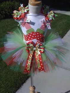 Future baby girl holiday outfit alert! Elf Booties Christmas Tutu Set-