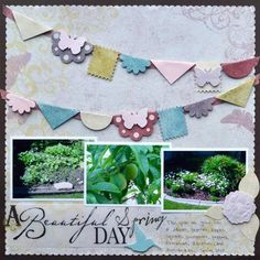 I love the banner on this layout - the 3D look is fun!  #scrapbooking
