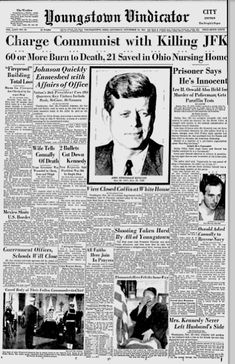 News covering the day President Kennedy was assassinated
