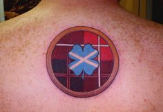 Scottish 4 leaf clover over tartan - I like the combination of this, might be a cool tat for me and the hubs? He's Irish, I'm Scottish...could be a nice mix of the two, only with different tartan and colours.
