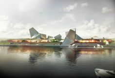 tom wiscombe awarded second prize for port of kinmen competition - designboom   architecture