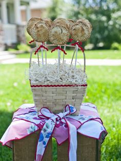 Festive Dessert Basket in 12 Sizzling, Party-Ready Outdoor Kitchens from HGTV