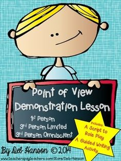 Point of View Demonstration Lesson FREE!!  Use a role play along with writing to teach the subtle differences between 3rd person limited and 3rd person omniscient!