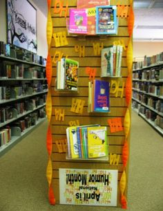 From the Short Stacks -  April Is Humor Month - Library Book Display