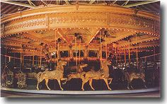 Rare 1927 Dentzel Carousel in original paint. This machine was last operated at Rock Springs Park, West Virginia. This was the last ever carved in the Dentzel factory! It is a museum piece. This machine is being offered completely restored and installed.