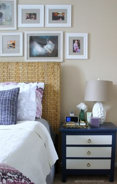 Home Tour {part 2}: Up to Date Interiors' Master Bedroom/Bathroom Love the headboard