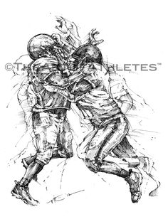 Vincent Ricasio's New Football Art from The Art of Athletes