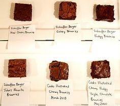 brownie bake-off recipe comparison