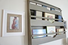 How great is this weathered book rack from #RHBaby?! #nursery #nurserydecor