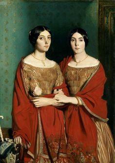 Théodore Chasseriau (1819-1856) De zusters van de kunstenaar (1843) Olie op doek 180 x 135 cm - Het Louvre
