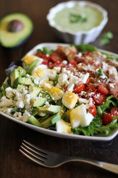 Cobb Salad with Homemade Green Goddess Dressing