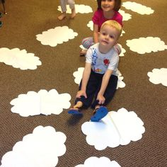 Clouds on the floor... Use for storytime or games.
