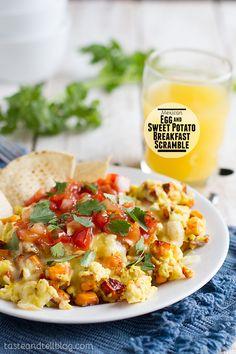 Mexican Egg and Sweet Potato Breakfast Scramble on Taste and Tell @Deborah Harroun {Taste and Tell}