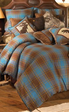 Rustic Log Cabin Bedding #rustic