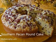 Cake Recipe | Southern Pecan Pound Cake Recipe Just discovered my office bday celebration contribution.